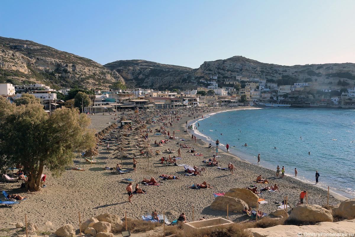 Пляж Матала. Наследие Хиппи